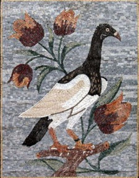 Bird on The Lookout Mosaic Artwork