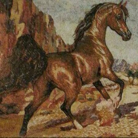 Healthy Horse Tile Mosaic Artwork
