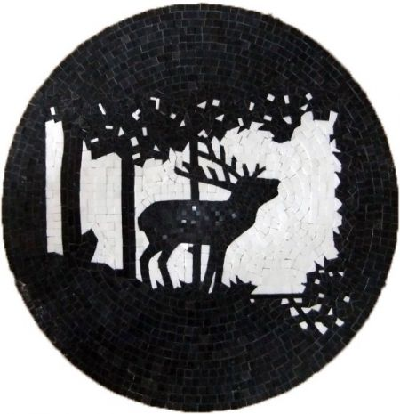 Stag Spotting Mosaic Medallion
