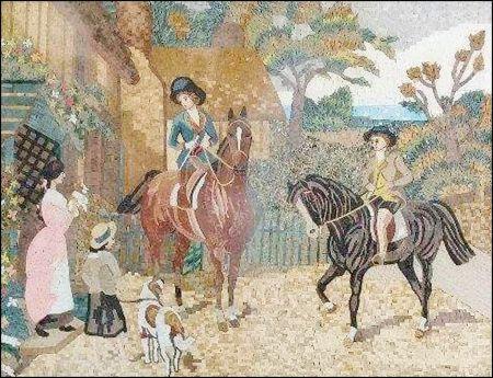 Equestrians Wall Art Mosaic