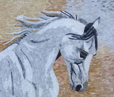 Andalusian Marble Mosaic Artwork