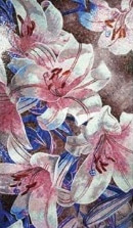 Stargazer Lilies Mosaic Design