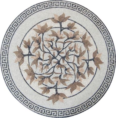 Meticulous Flowers Mosaic Medallion Design