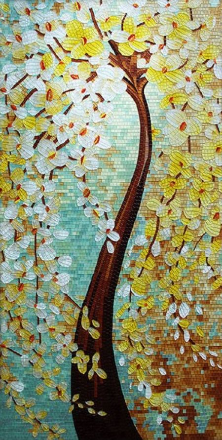 Nature's Mischief Tile Mosaic Artwork