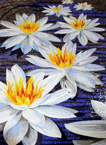 Water Lilies Mosaic Design