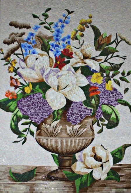 Springtime Urn Mosaic Art