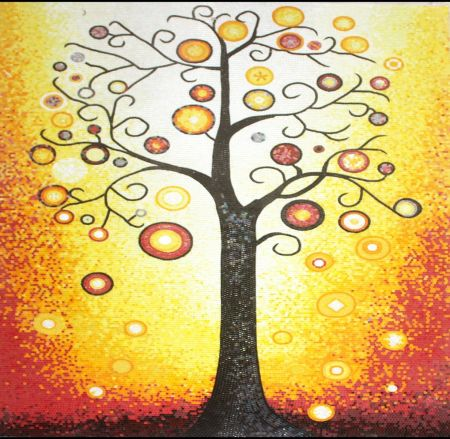 Sunset Tree Mosaic Design