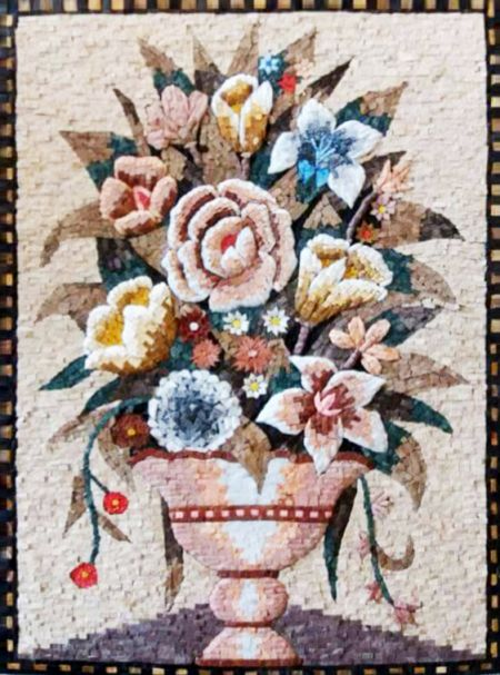 Needlepoint Bouquet Mosaic Art