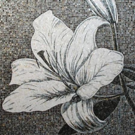 Black And White Lily Mosaic Art
