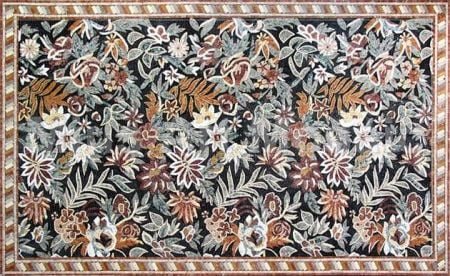 Floral Rug Mosaic Design