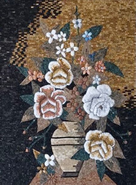 Roses Tile Mosaic Artwork