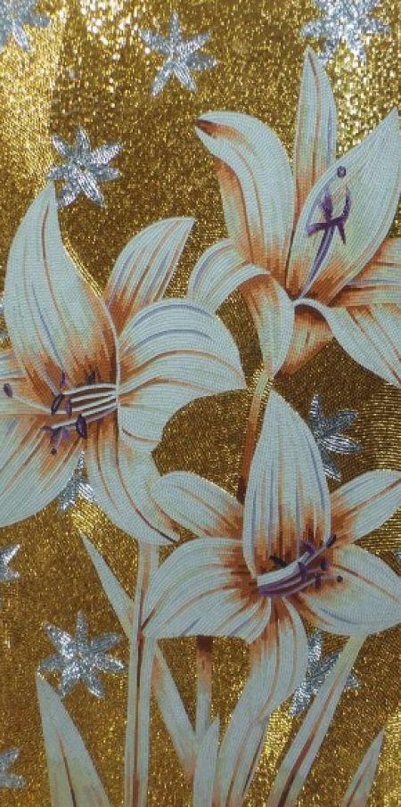 Glamorous Lilies Mosaic Artwork