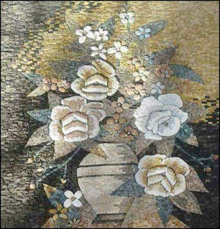 Subdued Botanical Mosaic Wall Art