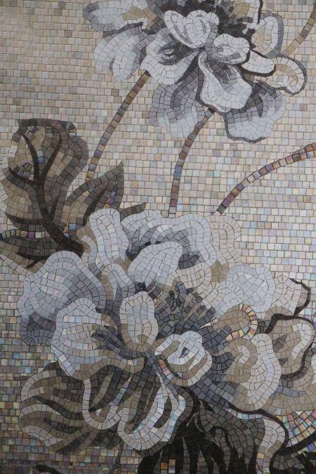 Classic Peonies Mosaic Design