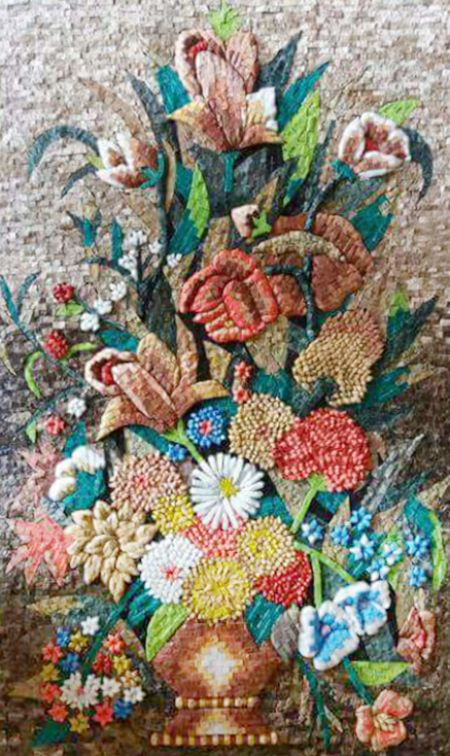 Versatile Bouquet Mosaic Artwork