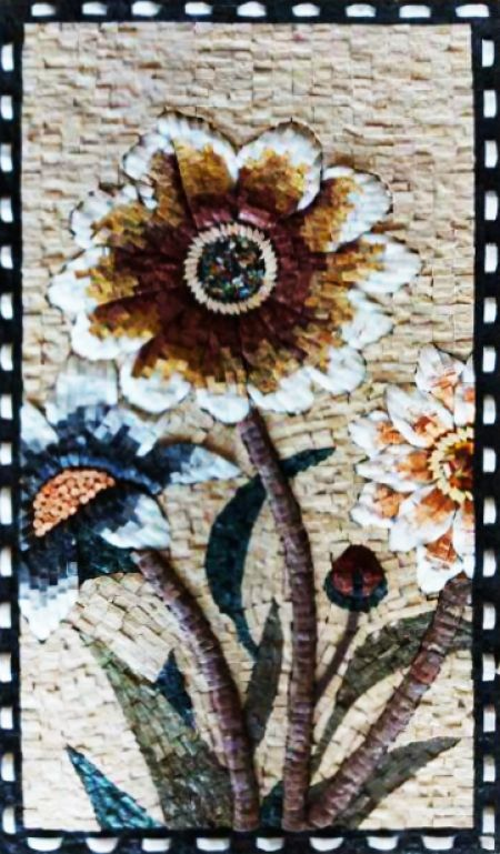 Night Flowers Mosaic Decoration