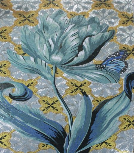 Surrealistic Flower Contemporary Mosaic