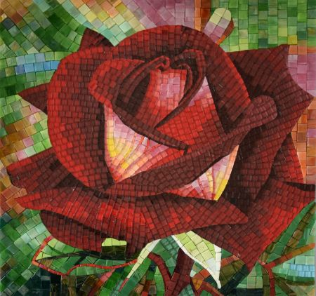Elusive Beauty Floral Mosaic Design
