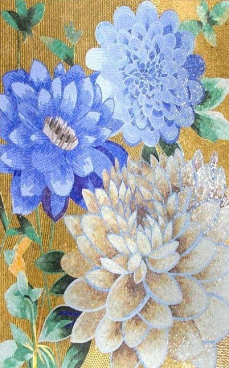 Chrysanthemums Mosaic Design