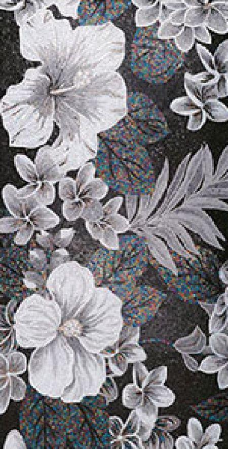 Elegant Tonal Floral Mosaic Artwork