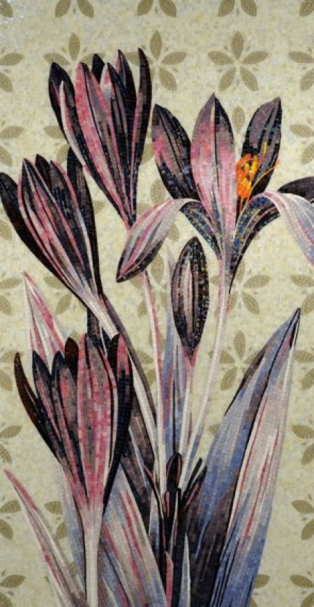 Purple Lilies Mosaic Design
