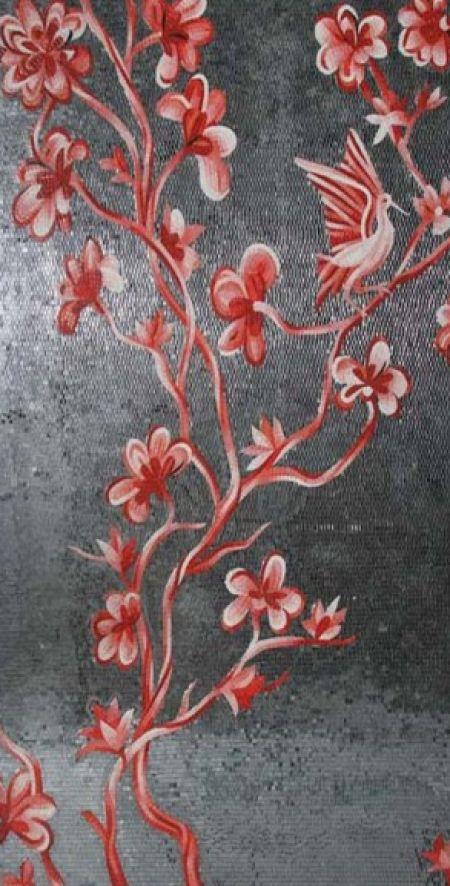 Red Bird & Blossoms