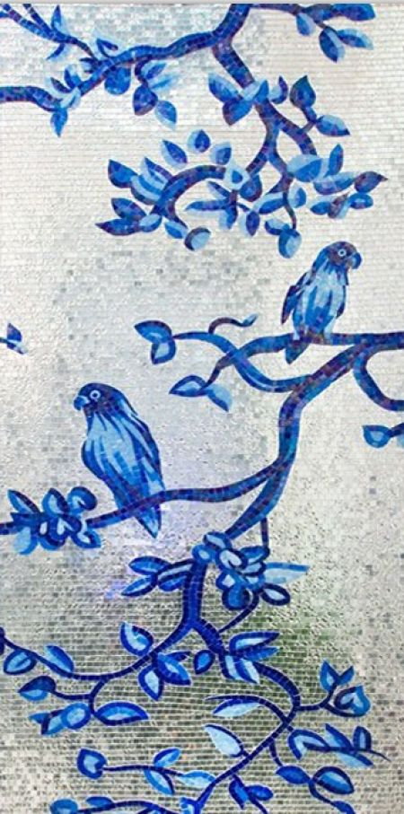 Bluebirds & Blue Blossoms