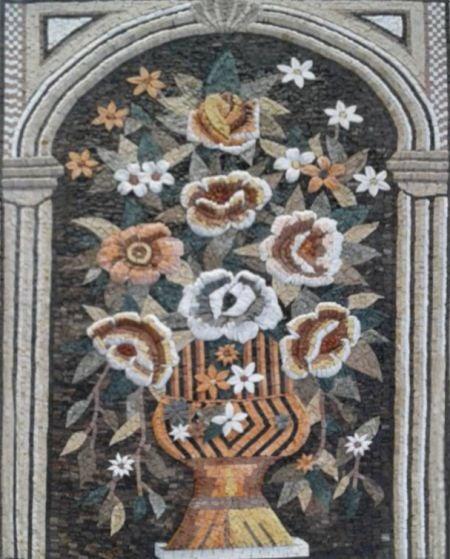 Classical Floral Mosaic Art