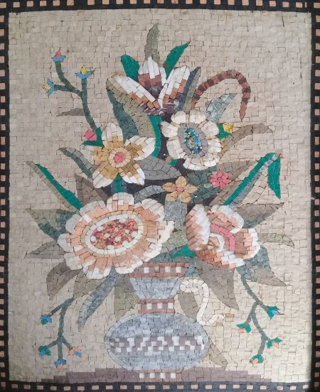 Vintage Flowers Floral Mosaic