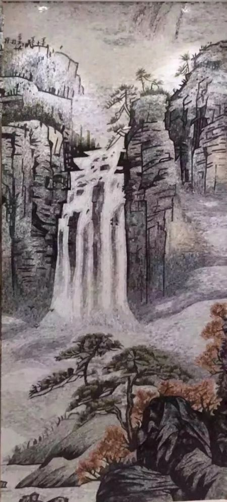 Frozen Waterfall Mosaic Art