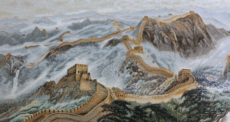 Great Chinese Wall Tile Mosaic Art