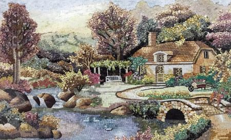 Cozy Little Cottage Mosaic Artwork