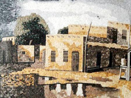 Southwestern Pueblo Mosaic Artwork