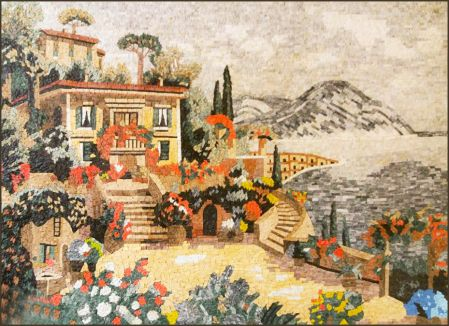 Villa By The Sea Mosaic Artwork