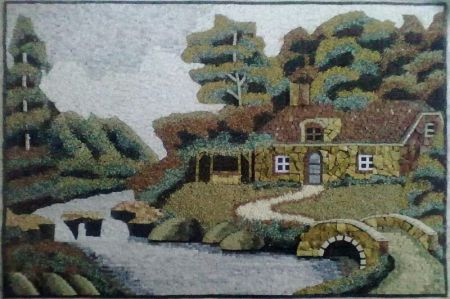 Cottage By The Creek Wall Art Mosaic