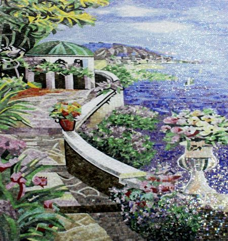 Seaside Charm Mosaic Wall Art