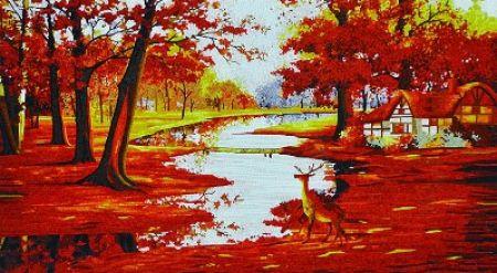 Autumn Landscape Mosaic Mural