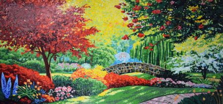 Beautiful Gardens Mosaic Artwork