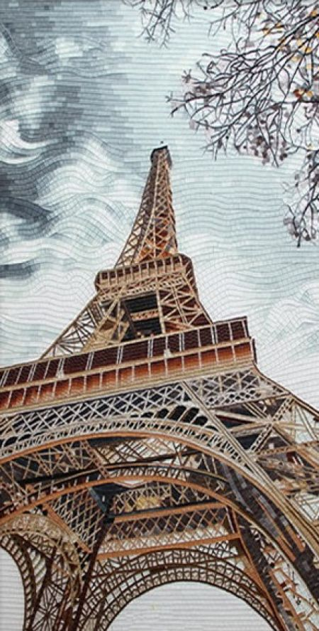 La Tour Eiffel Mosaic Artwork