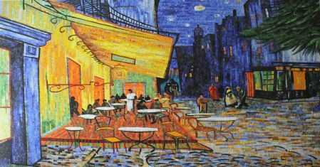 Vincent van Gogh's Cafe Terrace at Night
