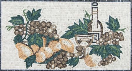 Grapes And Pears Kitchen Backsplash