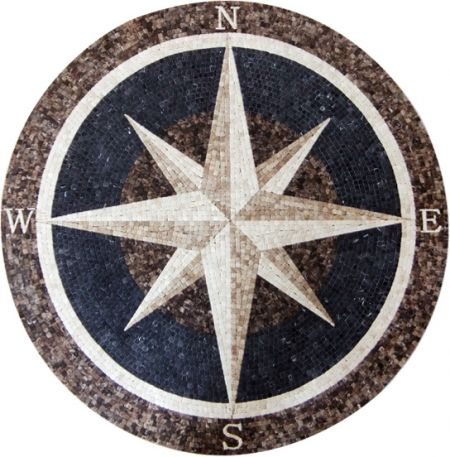 Decisive Compass Mosaic Design