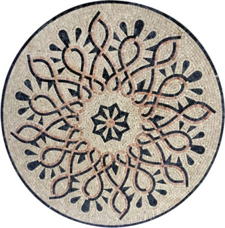 Floral Intricacy Medallion Mosaic Inlay