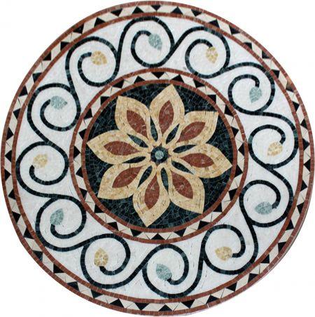 Wavy Excellence Medallion Mosaic Art