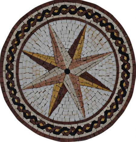 Points Of The Compass Medallion Mosaic Art
