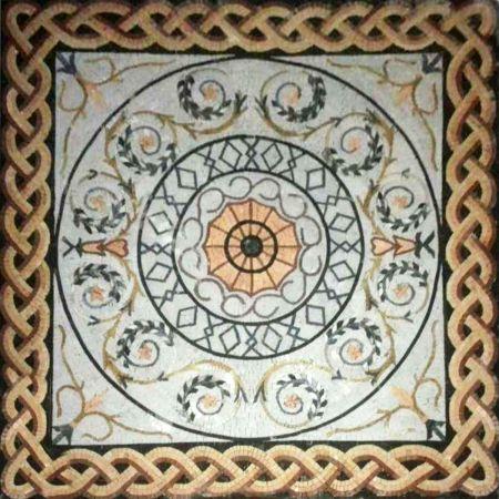 Circling Vine Mosaic Artwork
