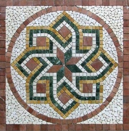 Magic Windmill Floor Mosaic