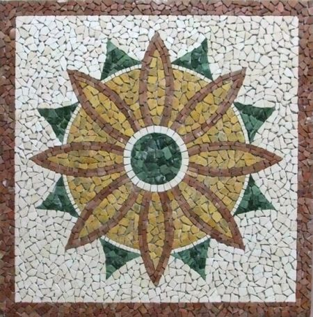 Sun-Flower Mat Tile Mosaic Floor Inlay