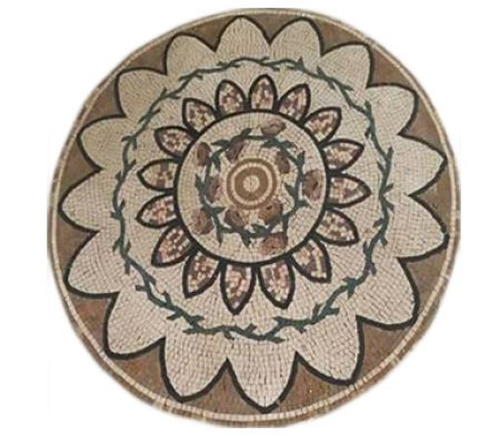 Helianthus And Roses Mosaic Medallion