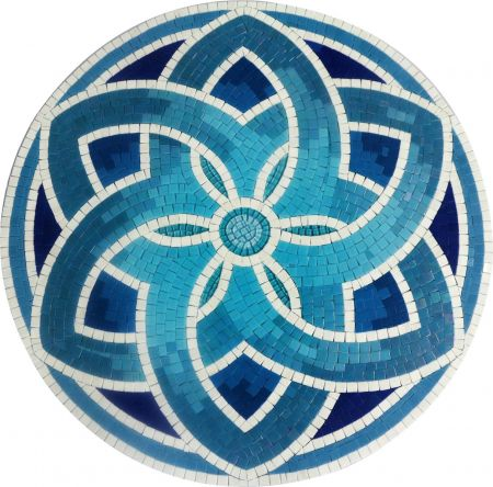 Shades Of Blue Medallion Mosaic